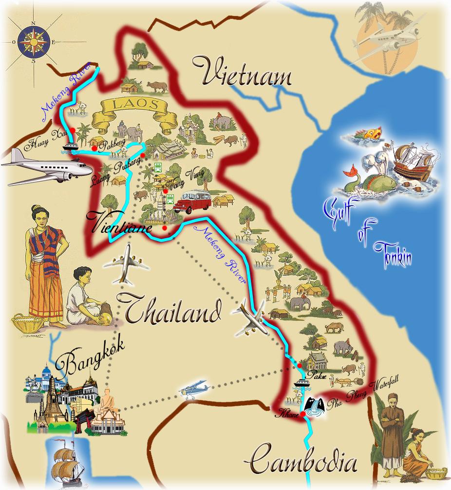 mekong river map